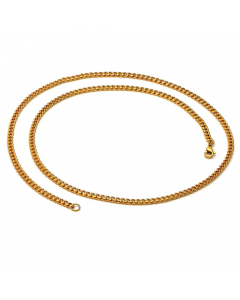 """Gold Plated Cuban Link Chain Necklace 30"""" 
