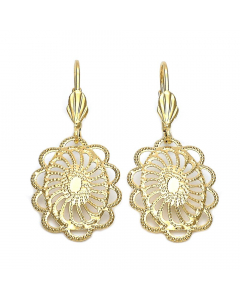 Women's Gold Layered Floral Sun Earrings   The Jewel In Giving