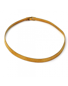 Gold Layered Flat Choker Necklace | The Jewel In Giving