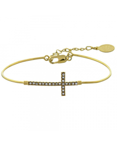 Gold Layered Infinity CZ Bracelet | The Jewel In Giving