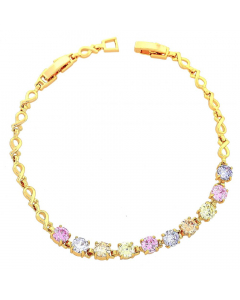 Women's Gold Layered Bright CZ Bracelet   The Jewel In Giving
