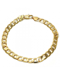 Gold Tone Curb Link Chain Bracelet | The Jewel In Giving