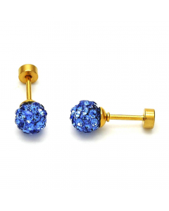 Royal Blue Crystal Ball Stud Earrings | The Jewel In Giving