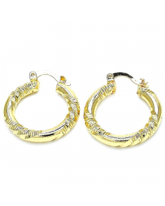 Gold Plated Design Cut Hoop Earrings | The Jewel In Giving