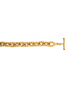 14k Yellow Gold Link Bracelet with Toggle