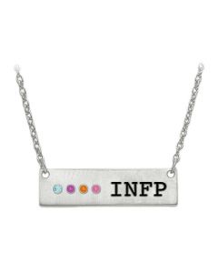 INFP 4 stone Personality Type Necklace Sterling Silver