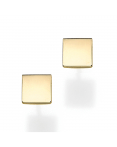 Women's Square Stud Earrings 14k Yellow Gold | The Jewel In Giving
