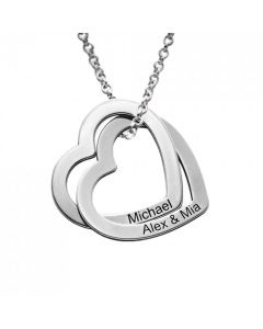 Sterling Silver Interlocking Hearts Family Necklace| The Jewel In Giving
