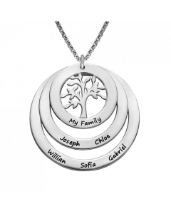 Sterling Silver Circle Family Tree Necklace | The Jewel In Giving