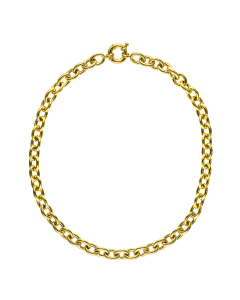 14k Yellow Oval Link 10.5mm