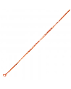 14k Pink Solid Wheat 3.5mm