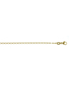 14k Yellow Gold Baroque Chain Necklace Chain 1.9mm 16''