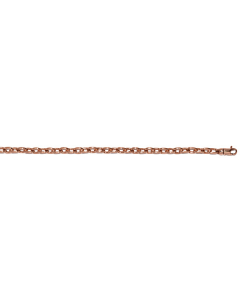 14k Rose Gold Solid Link Chain 4.7mm 18''