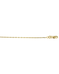 14k Yellow Gold Anchor Chain 1.3mm 20''