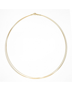 14k Yellow Gold 3 Strands Chain 0.5mm 18''