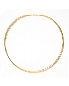 14k Yellow Gold 7 Strands Chain 0.5mm 16''