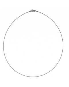 14k White Gold Twisted Wire Chain 0.7mm 18''