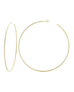 105mm Extra Large Hoop Earrings 14k Yellow Gold