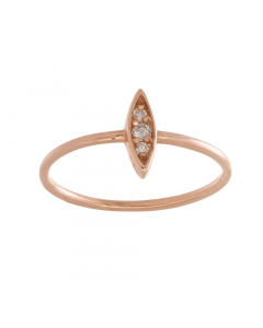Marquise Diamond Cluster Ring 14k Rose Gold