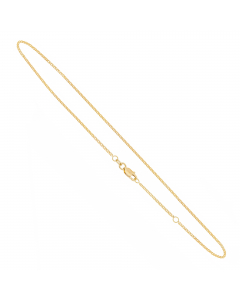 """Adjustable 9-10"""" Curb Chain Anklet 14k Yellow Gold"""
