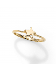 Women's Stackable Diamond Star Ring 14k Yellow Gold | The Jewel In Giving
