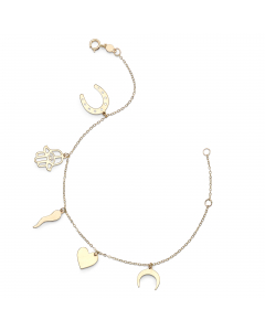 Women's Lucky Charms Bracelet 14k Yellow Gold | The Jewel In Giving