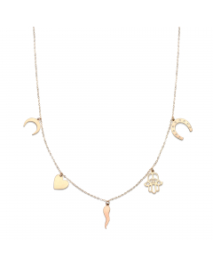 Women's Lucky Charms Necklace 14k Yellow Gold | The Jewel In Giving