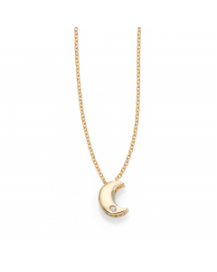 Women's Diamond Crescent Moon Necklace 14k Yellow Gold | The Jewel In Giving