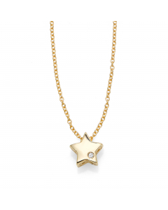 Women's Diamond Star Necklace 14k Yellow Gold | The Jewel In Giving