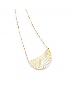 Women's Design Moon Necklace 14k Yellow Gold | The Jewel In Giving