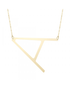 Women's Chic Initial A Necklace 14k Yellow Gold |The Jewel In Giving