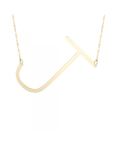 Women's Chic Initial J Necklace 14k Yellow Gold |The Jewel In Giving