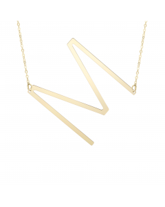 Women's Chic Initial M Necklace 14k Yellow Gold |The Jewel In Giving