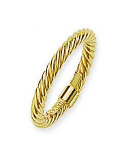 Stackable Rope Ring 14k Yellow Gold