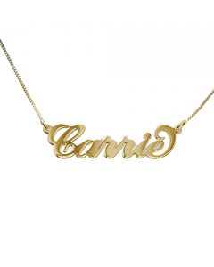 Petite 18k Gold Layered Script Name Necklace   The Jewel In Giving