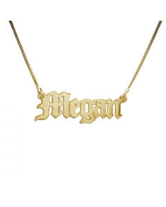 Old Thyme Name Necklace 18k Gold Plated    The Jewel In Giving