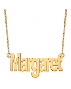 Women's Gold-Plated Sterling Silver Name Necklace | The Jewel In Giving