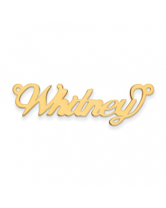 Women's 14k Yellow Gold Script Name Necklace | The Jewel In Giving